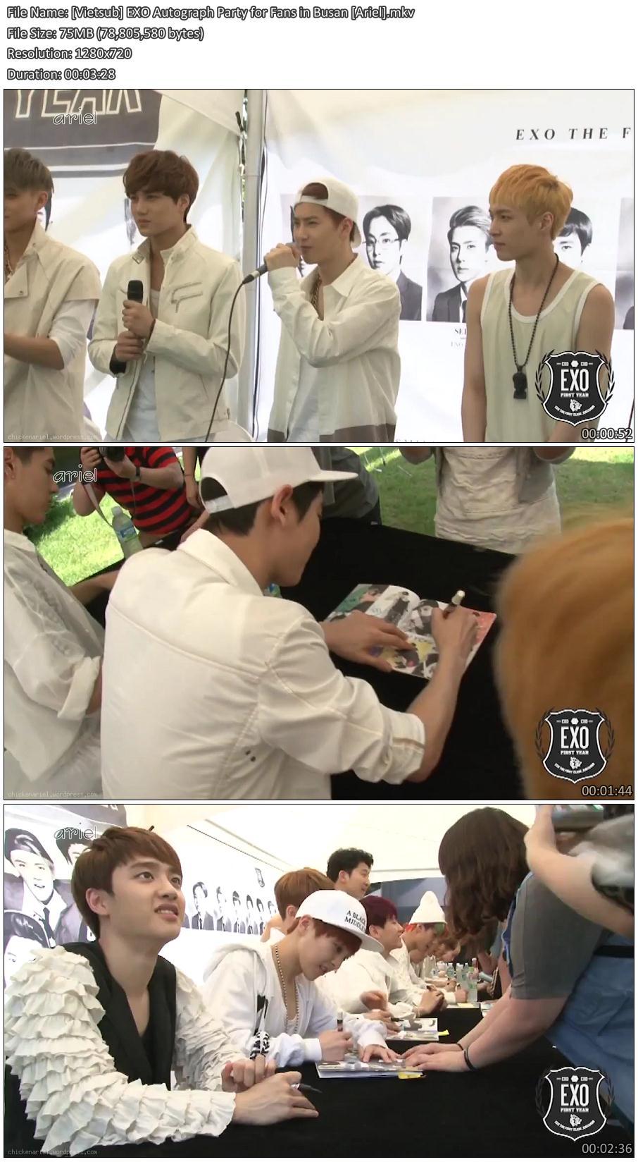 [Vietsub] EXO Autograph Party for Fans in Busan [Ariel]